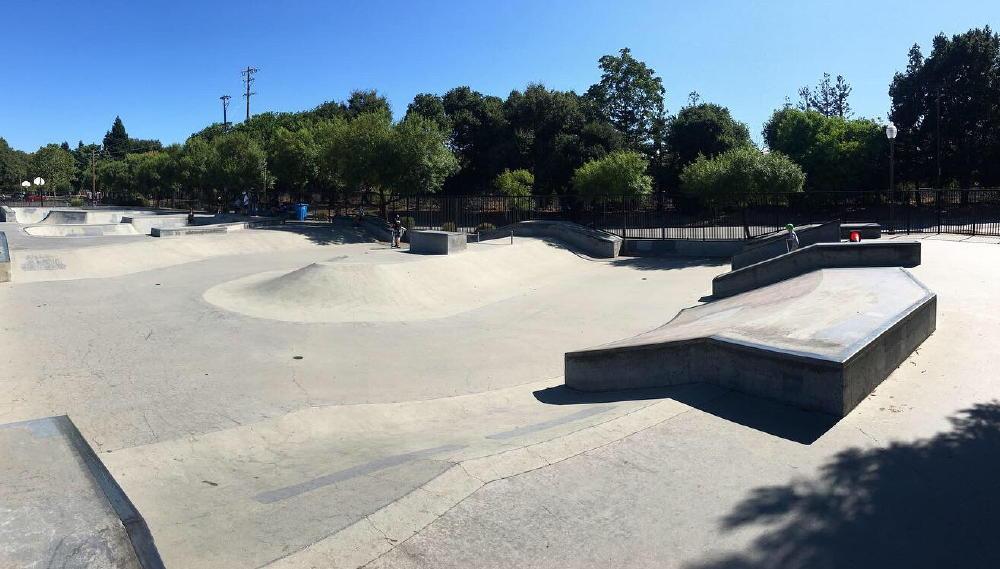 Burgess skate park in menlo park, california
