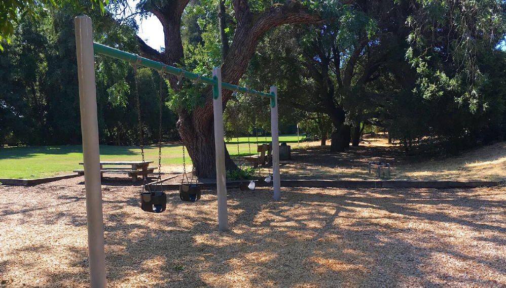Cornelis bol park palo alto swings shade benches