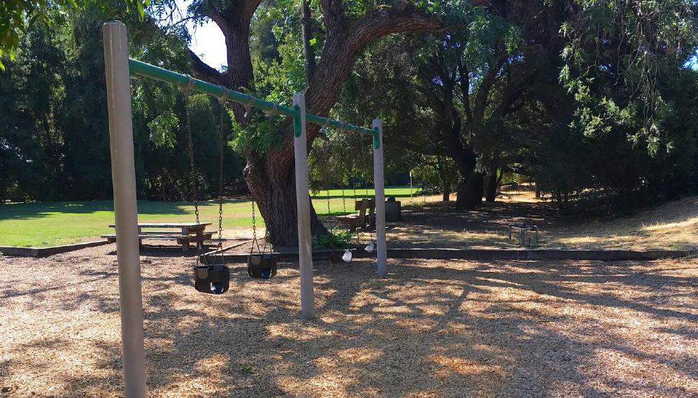 Cornelis bol park palo alto swings shade benches