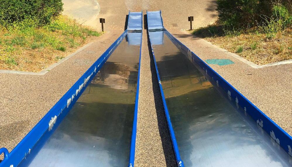 Junipero Serra Park long fast slides
