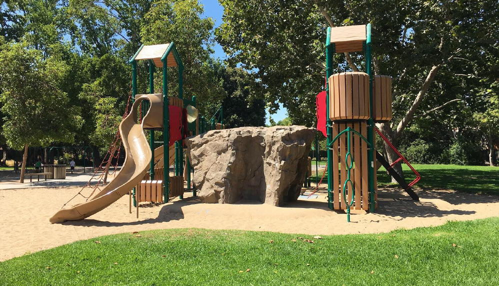 climbing rock for kids with dual slides