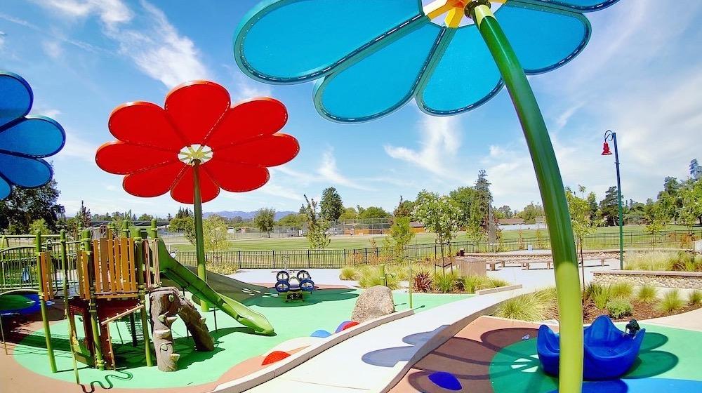 may Nissen playground flowers