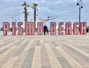 Pismo Beach pier sign